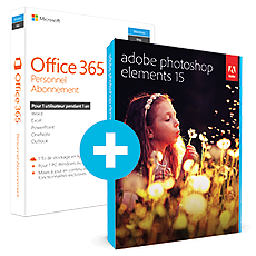 Pack Office 365 Personnel + Adobe Photoshop Elements 15
