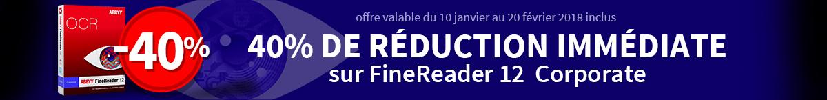 40% de réduction immédiate sur FineReader 12 Corporate