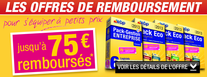 Offres de remboursement - Jusqu' 75 rembourss*