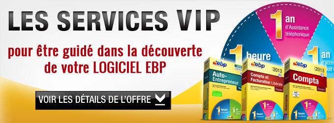 Les services VIP pour tre guid dans la dcouverte de votre logiciel EBP