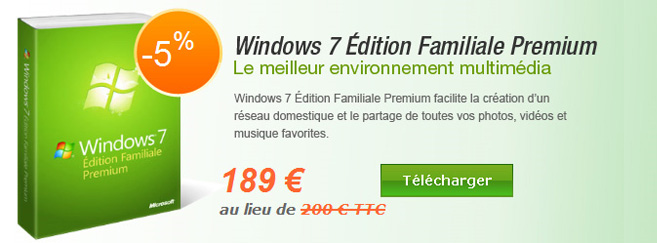 Windows 7 Édition Familiale Premium